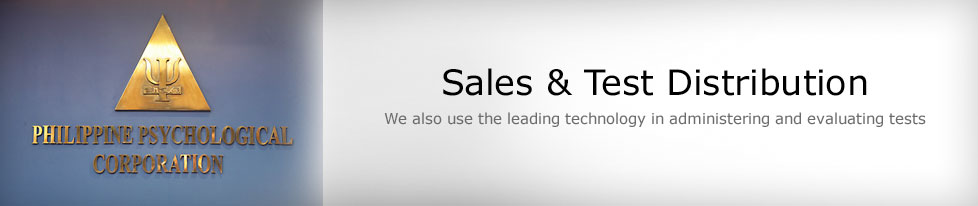 Sales & Test Distribution