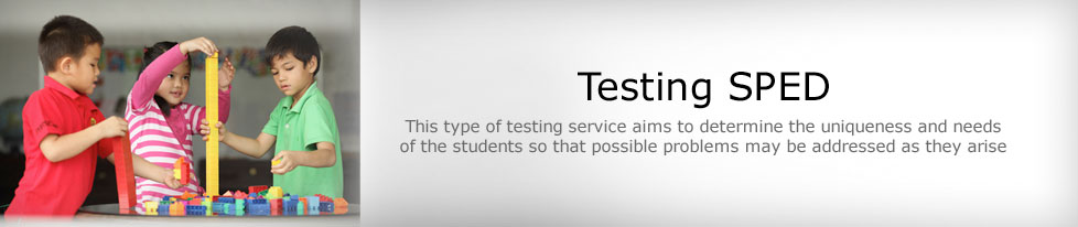 Testing Services for SPED Programs
